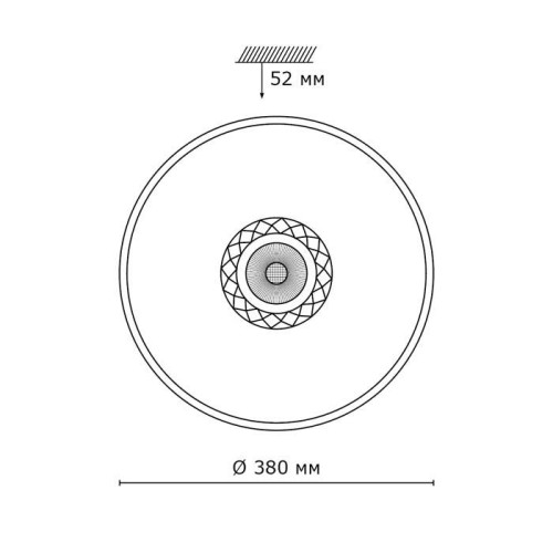 2044/DL SN 085 св-к LAVORA пластик LED 48Вт 4000K D380 IP43