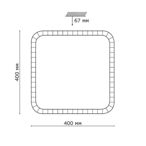 2035/DL SN 071 св-к KAROLA пластик LED 48Вт 3000-6000K 400х400 IP43 пульт ДУ
