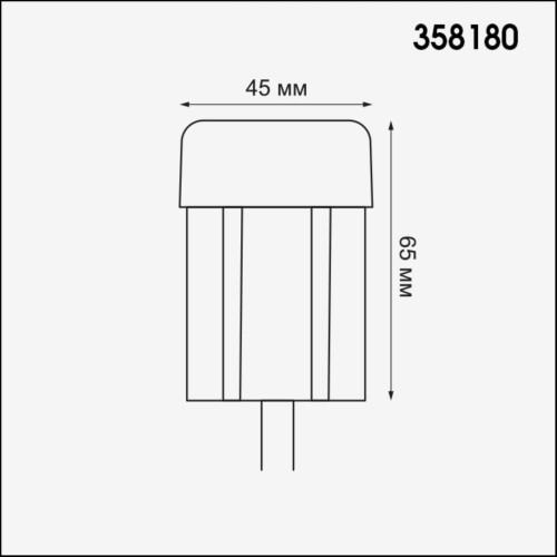 358180 NT19 164 белый Ландшафтный модуль IP65 LED 4000K 3W 100-240V