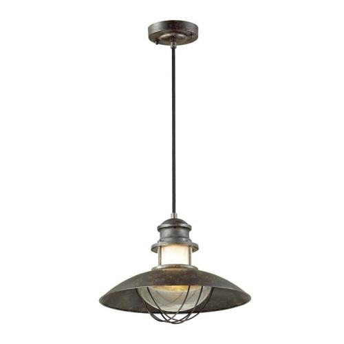 4164/1 ODL19 694 коричневый/прозрачный Уличный светильник-подвес IP23 E27 1*60W DANTE
