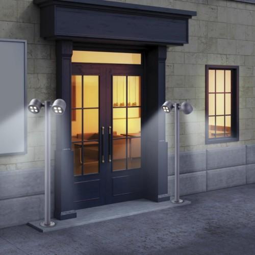 358116 NT19 149 темно-серый Ландшафтный светильник IP65 LED 3000К 20W 100-240V GALEATI