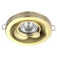 370442 NT19 114 золото Встраиваемый светильник IP20 GU10 50W 220V LILAC