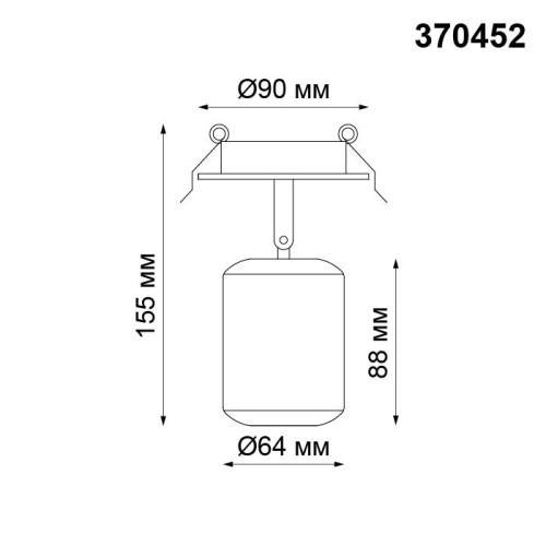 370452 NT19 102 белый Встраиваемый светильник IP20 GU10 50W 220V PIPE