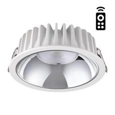 358298 NT19 000 белый Встраиваемый диммируемый светильник с пультом ДУ IP20 LED 3000-6500K 20W 220-2