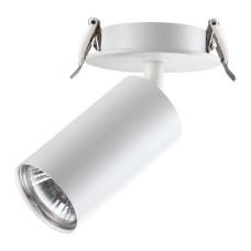 370393 NT18 101 белый Встраиваемый светильник IP20 GU10 50W 220V PIPE
