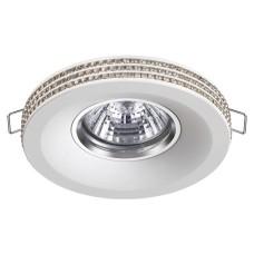 370444 NT19 114 белый Встраиваемый светильникк IP20 GU10 50W 220V LILAC