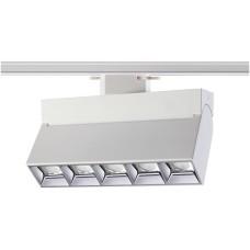 357842 NT18 058 белый/хром Трековый светильник IP33 LED 3000К 25W 110-265V EOS