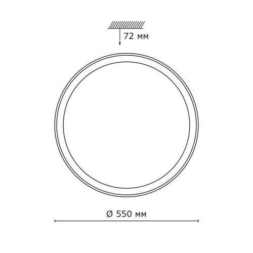 2049/EL SN 092 св-к KABRIO пластик LED 72Вт 3000-6000K D550 IP43 пульт ДУ