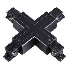 """135053 NT19 012 черный Соединитель """"Х"""" с токопроводом для трехфазного шинопровода IP20 220V"""
