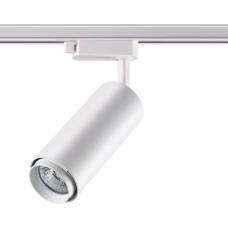 370415 NT19 100 белый Трековый светильник IP20 GU10 50W 220V PIPE
