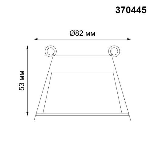 370445 NT19 130 черный Встраиваемый светильник IP20 GU10 50W 220V BUTT