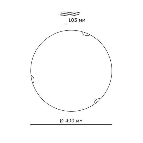233 SN 102 св-к ONDINA стекло E27 2*100Вт D400