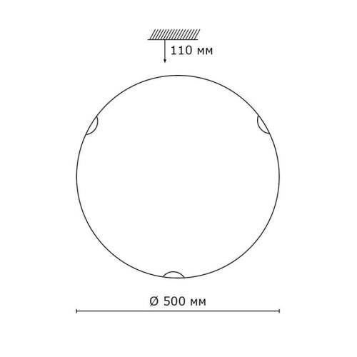 318 SN 101 св-к KUSTA стекло E27 3*100Вт D500