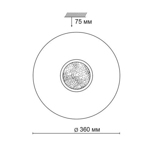 2074/CL SN 047 св-к LAZANA пластик LED 30Вт 4000К D360 IP43