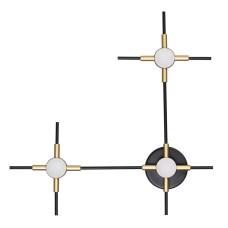 3906/9WL L-VISION ODL21 045 черн/золот/металл Настен. cветильник IP20 LED 9WL 720Лм 4000К COSTELLA
