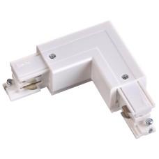 """135062 NT19 013 белый Соединитель """"L"""" внешний с токопроводом для трехфазного шинопровода IP20 220V"""