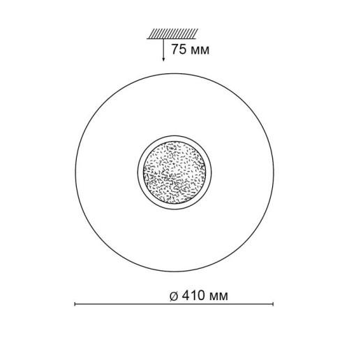 2074/DL SN 047 св-к LAZANA пластик LED 48Вт 3000-6000K D410 IP43 пульт ДУ