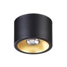 3878/1CL ODL19 221 черный с золотом Потолочной накладной светильник GU10 1*50W 220V GLASGOW