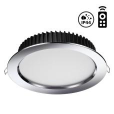 358303 NT19 000 хром Встраиваемый диммируемый светильник с пультом ДУ IP44 LED 3000-6500K 10W 85-265