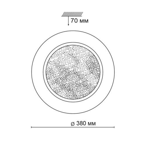 2079/DL SN 049 св-к PINOLA пластик LED 48Вт 3000-6000K D380 IP43 пульт ДУ