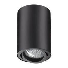 370418 NT19 101 черный Накладной светильник IP20 GU10 50W 220V PIPE