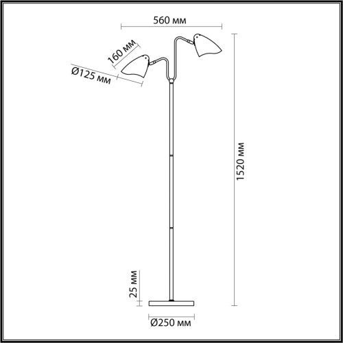 4540/2F MODERNI LN21 137 латунь, белый Торшер E14 2*40W 220V MADISON