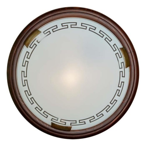 160/K SN 106 св-к GRECA WOOD стекло E27 2*60Вт D360