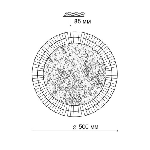 2092/EL SN 010 св-к MARELA пластик LED 72Вт 3000-6000K D500 IP43 пульт ДУ