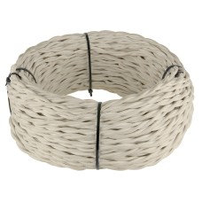 Ретро кабель витой 2х1,5 (песочный) Ретро кабель витой 2х1,5 (песочный)