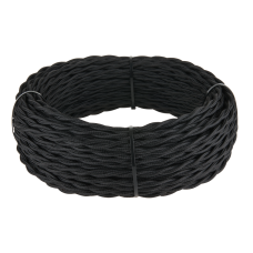 Ретро кабель витой 3х2,5 (черный) Ретро кабель витой 3х2,5 (черный)