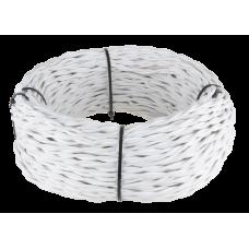 Ретро кабель витой 2х2,5 (белый) Ретро кабель витой 2х2,5 (белый)