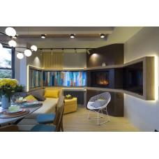 Витражная кухня с окном-камином в программе «Дачный ответ» с Maytoni
